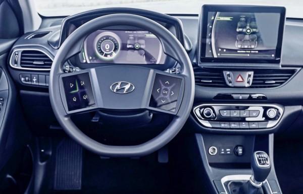 Интерьер будущих моделей Hyundai: сенсорный руль и многослойный щиток приборов