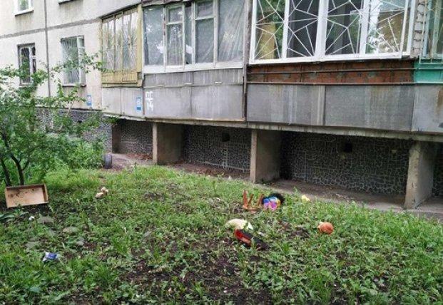 Выпавшего с 6-го этажа малыша спас случайный прохожий