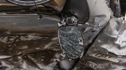 Водитель получил сотрясение мозга после серьезного ДТП в Кемерове