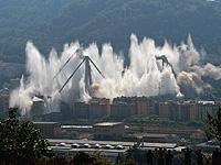 В Генуе взорвали опоры моста, обрушение которого привело к гибели 43 человек