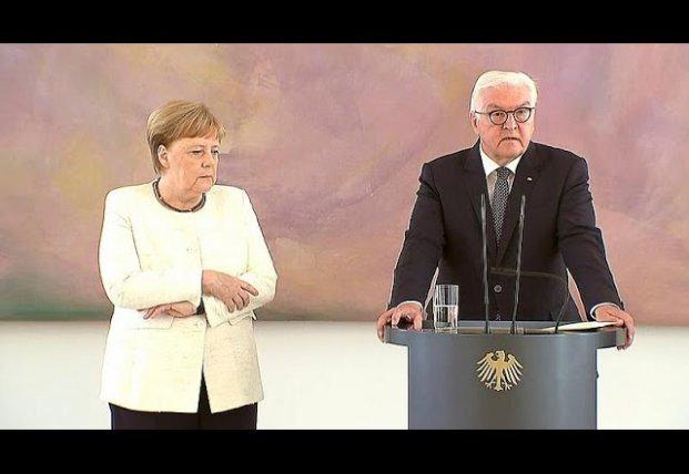 Ангеле Меркель снова стало плохо на официальной встрече (видео)