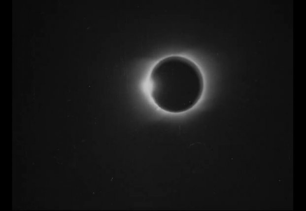 Самое первое в истории видео солнечного затмения 1900 года выложили в Сеть (видео)