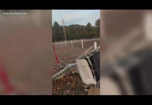 На ферму в США рухнул спутник (видео)