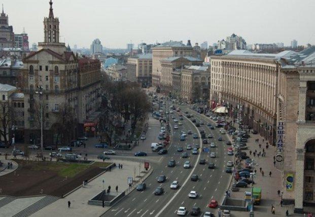 В Киеве разрешили движение по Крещатику в выходные