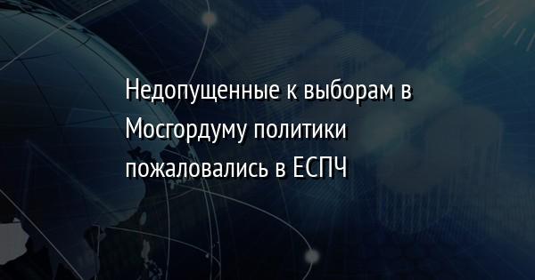 Недопущенные к выборам в Мосгордуму политики пожаловались в ЕСПЧ