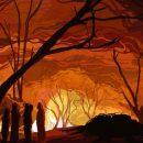 Пожар уничтожил частный дом с постройками в кемеровском поселке