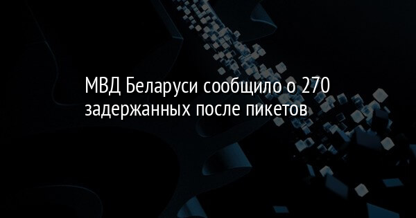 МВД Беларуси сообщило о 270 задержанных после пикетов