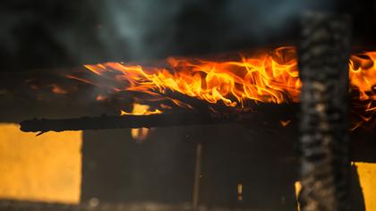 Крупный пожар произошел ночью в Кемерове
