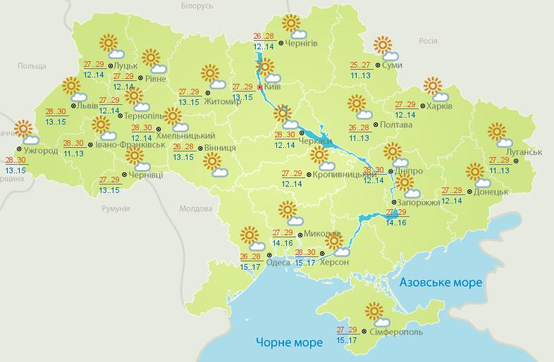 Прогноз погоды на 4 августа: Украину накроет жара