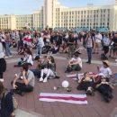Протестующие собрались у Дома правительства в Белоруссии