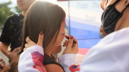 В Кемерове продолжается празднование Дня флага России