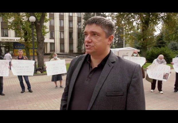 В Днепре из-за рейдерства и давления силовиков митингуют предприниматели (видео)