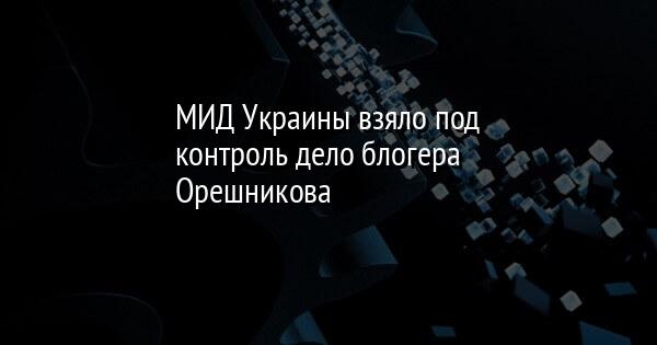 МИД Украины взяло под контроль дело блогера Орешникова