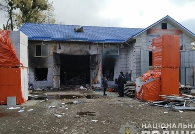 Под Киевом в магазине стройматериалов прогремел взрыв, есть раненые
