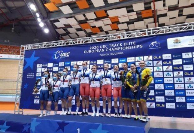 Украинцы завоевали первые две медали на чемпионате Европы по велотреку
