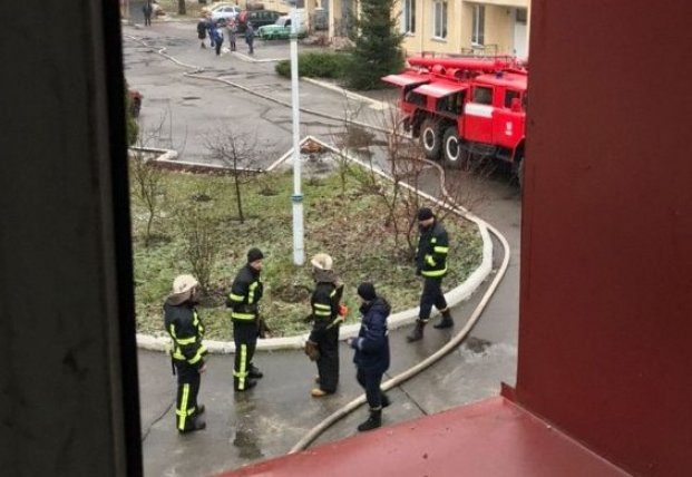В Киеве горел психоневрологический диспансер