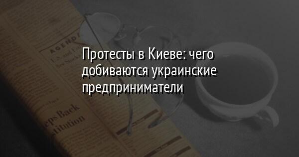 Протесты в Киеве: чего добиваются украинские предприниматели