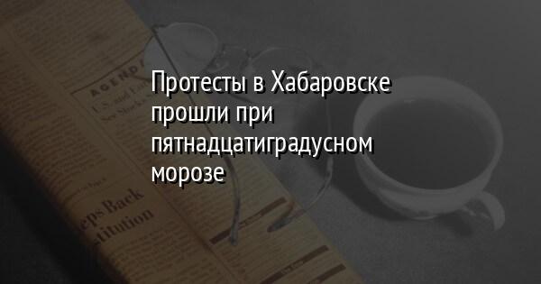 Протесты в Хабаровске прошли при пятнадцатиградусном морозе