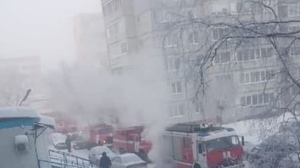 Работали 40 пожарных: из окна горящего общежития в Кемерове спасли бабушку и детей