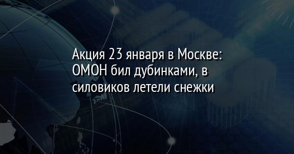 Акция 23 января в Москве: ОМОН бил дубинками, в силовиков летели снежки