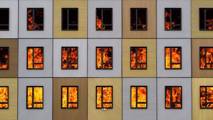Квартира на пятом этаже загорелась в кузбасском городе