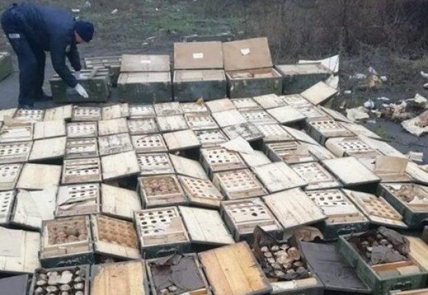 В Мариуполе нашли огромный тайник оружия и боеприпасов (фото)