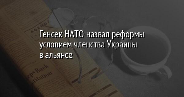 Генсек НАТО назвал реформы условием членства Украины в альянсе
