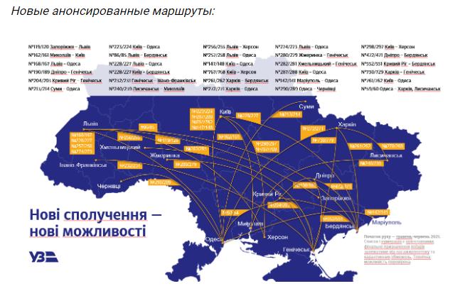 Укрзализныця запускает летние маршруты и обновила меню питания в поездах Интерсити