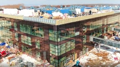 Кадры с новым терминалом кемеровского аэропорта с готовым фасадом появились в соцсетях