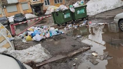 Скопившаяся мусорная свалка во дворе дома возмутила кемеровчанина