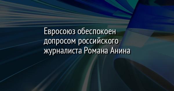 Евросоюз обеспокоен допросом российского журналиста Романа Анина