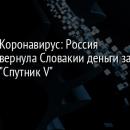 Коронавирус: Россия вернула Словакии деньги за