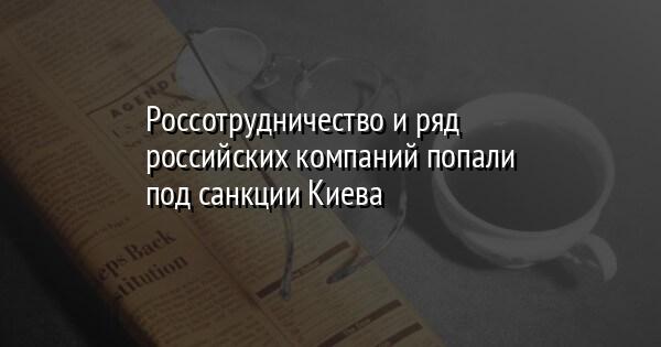 Россотрудничество и ряд российских компаний попали под санкции Киева